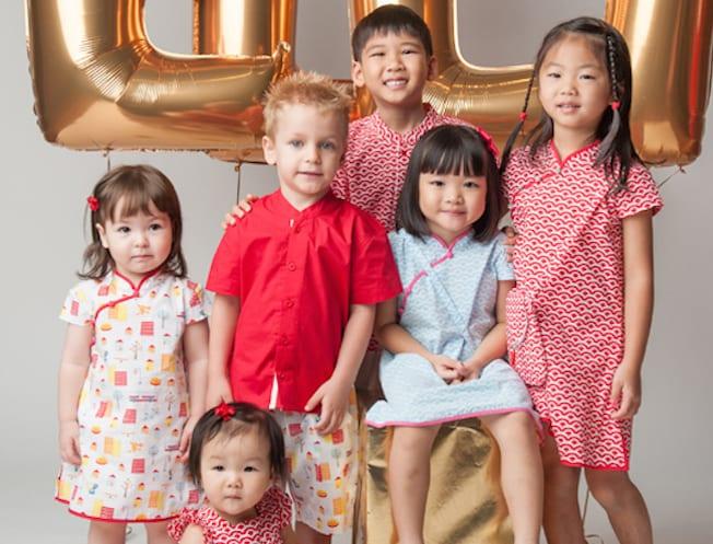 Kids cheongsams and Chinois shirts