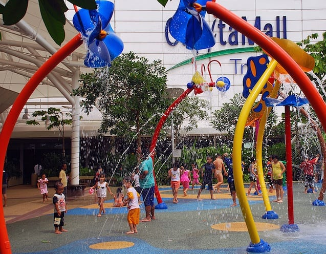 Fun in the fountains at IMM Mall.