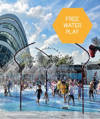 Free water play parks in Singapore