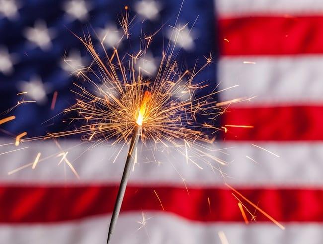 Fourth of July, Sparkler, Pyrotechnics.