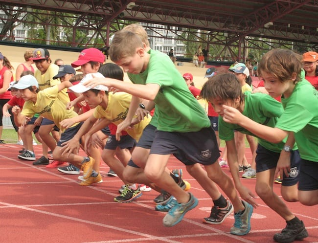 Local school students and international school students race for the same goals. Photography: courtesy of Chatswood International School.