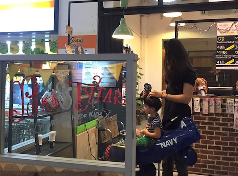 kids hairdressers in Singapore Poika & Tytar