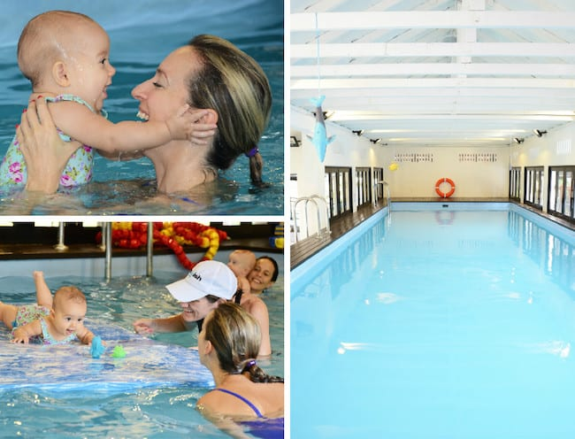 Teach your baby to feel confident in the water at SWISH! Swim School.