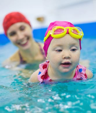 Teaching your baby to swim in Singapore