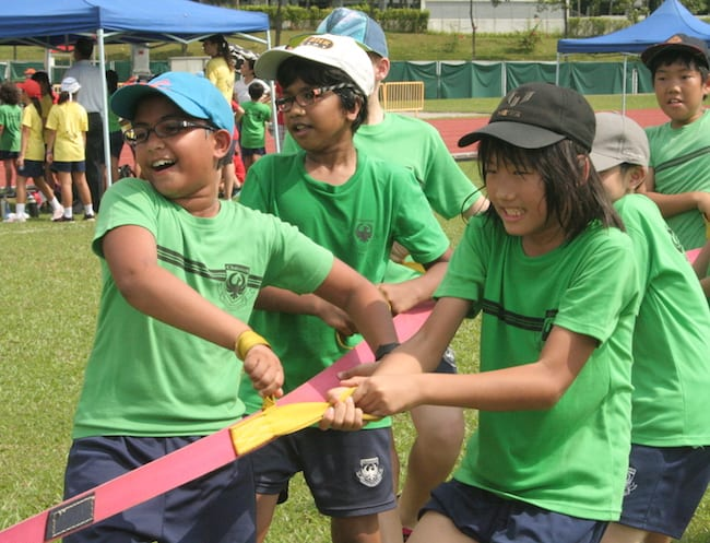 International and local school students in friendly competition at Chatsworth International School.