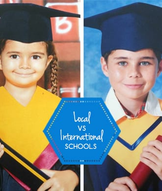 One family, two school systems: international vs local school in Singapore
