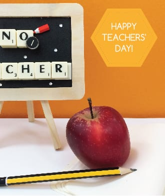 Say thank you on Teachers' Day!