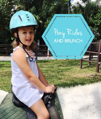 Pony rides and brunch! Our day out at Horse City & Tin Hill Social