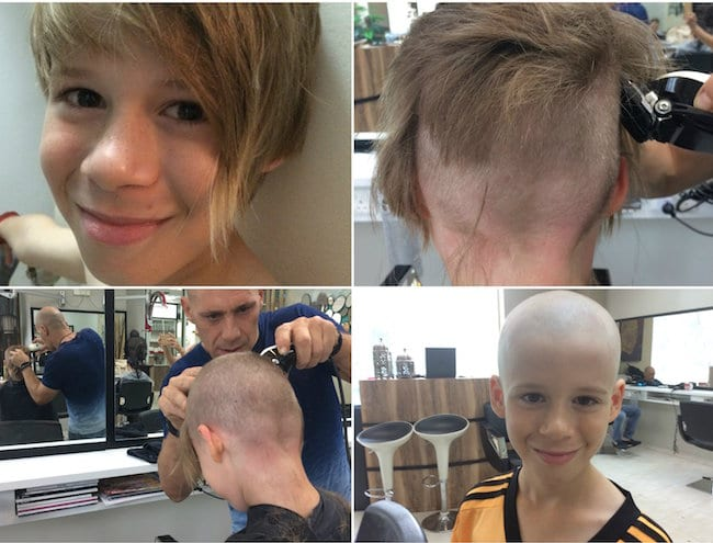 Hair today; gone tomorrow! 9 year old Gus (hair) raising money for an amazing cause.