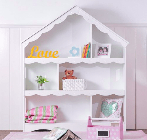 Decorating children s rooms where to buy cool kids beds tables and fun furniture in singapore - Adorable dollhouse bookshelves kids to decorate the room ...