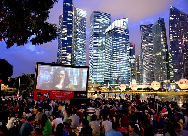 Open-air movie screenings