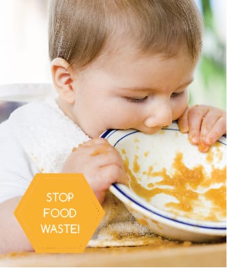 Stop food waste: an empty plate is a happy plate