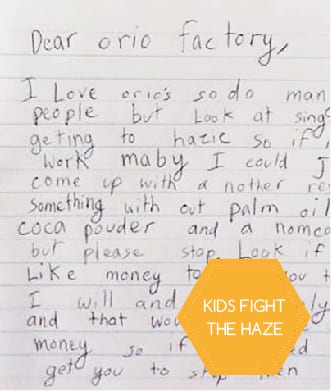 An eight-year-old's letter to stop the haze