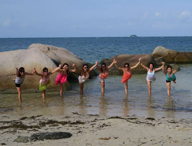 Learn some new yoga moves and make some new friends just across the water in Bintan with Yoga Seeds.