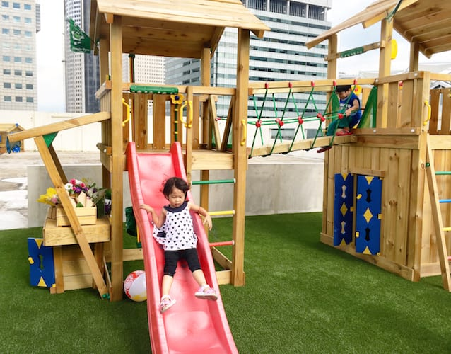 Rooftop play area at LeClare Preschool