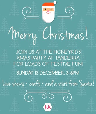 Come to the HoneyKids Xmas party!