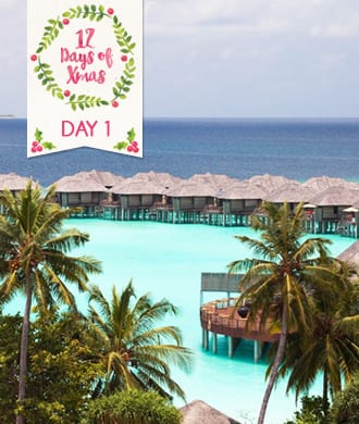 Day 1: Win a luxury vacay for the family in the Maldives!