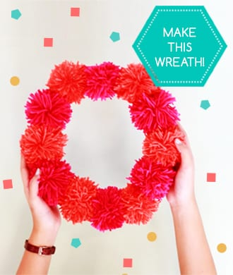 Love pom poms? Make this Xmas wreath and garland!