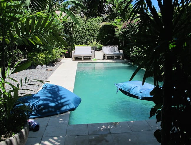 Kate's favourite feature of the villa: the pool!