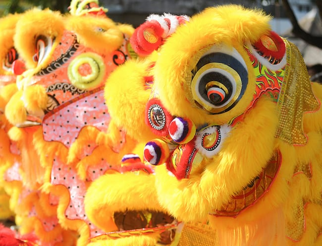 Don't miss the lion dances bringing good luck all over town!