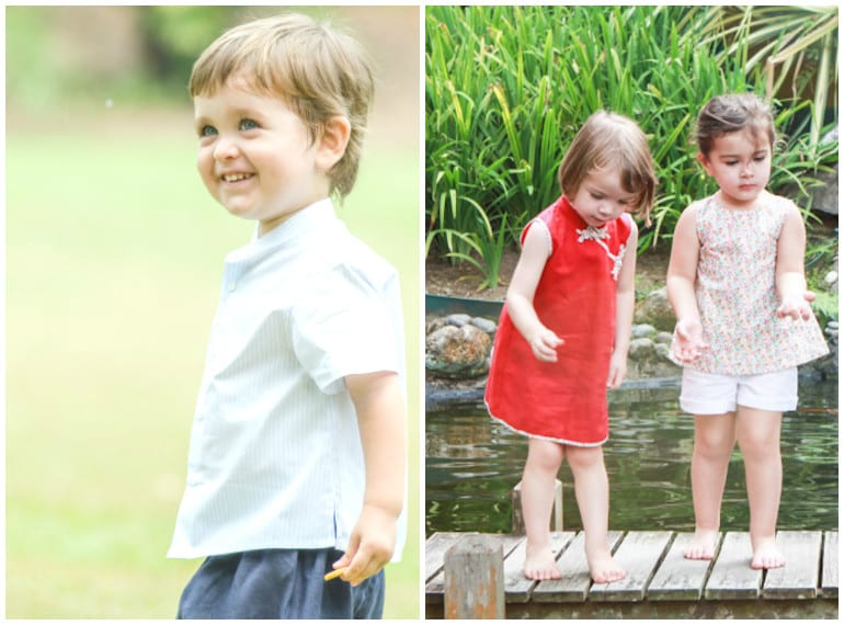 Check out Little Friends by Lamasso's cheongsams and shirts in comfy cotton/linen.