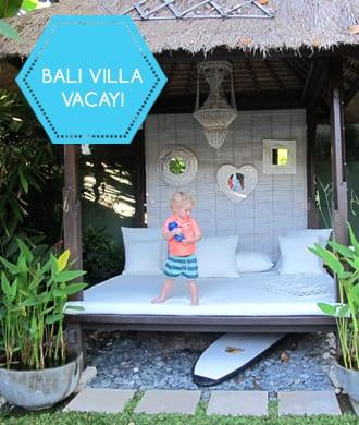 Family villa vacay in Bali!