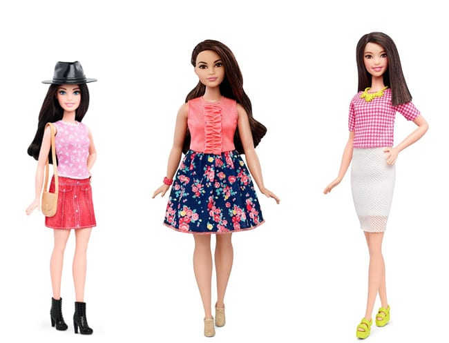 Barbie becomes a real woman: petite, curvy and tall body shapes have been introduced.