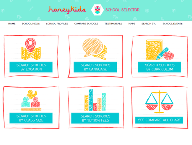 School Selector search page