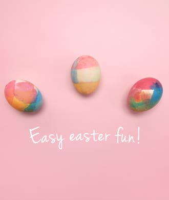 Easter decorations! Make these rainbow eggs