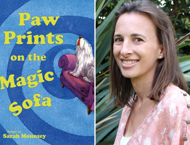Sarah Mounsey, author of the Purple Paw Prints series