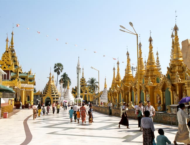 Be dazzled by Shwedagon Pagoda in Myanmar.