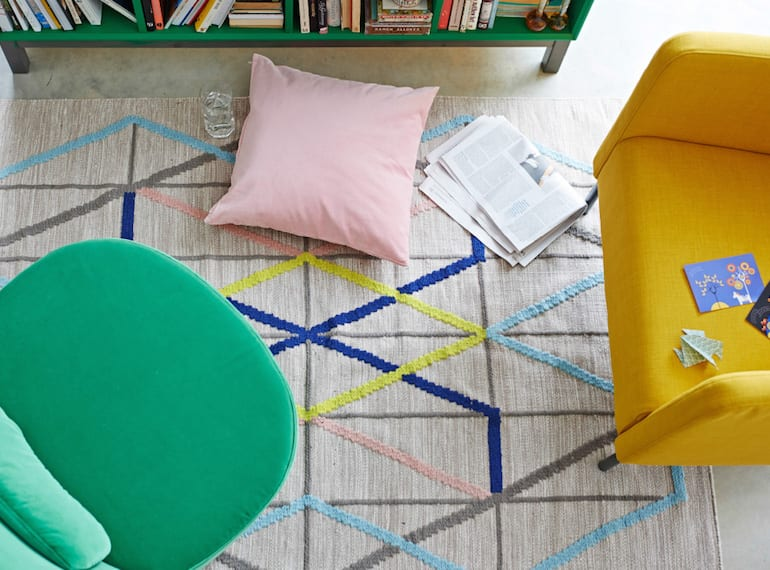 You can always count on IKEA. We love the PS2014 flat woven rug, $249.