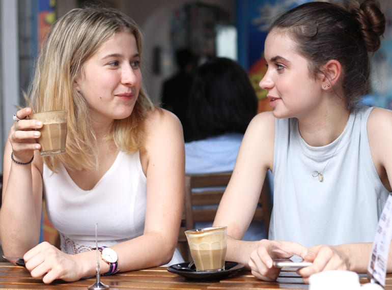 Bella (left) and Sophie shared their teen-approved cafes, hangouts and days out in the city.