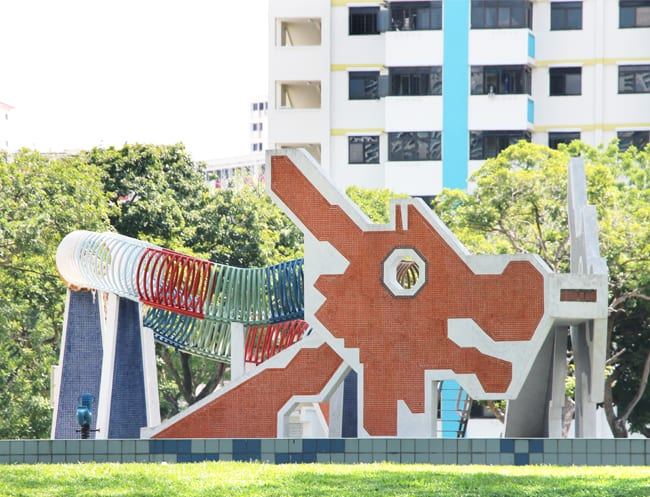 The iconic dragon playground at Toah Payoh
