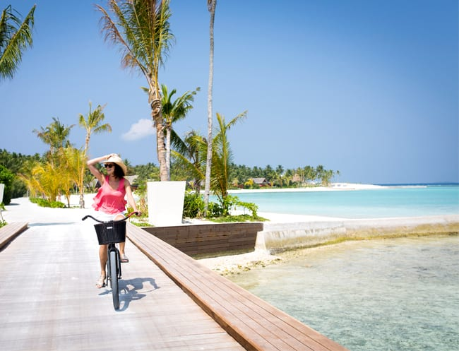 Borrow a bike for exploring the islands.
