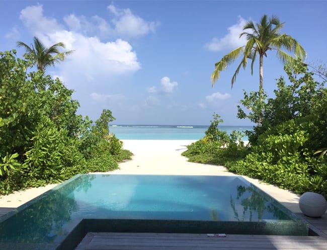 Per Aquum Maldives beach villa HoneyKids Asia