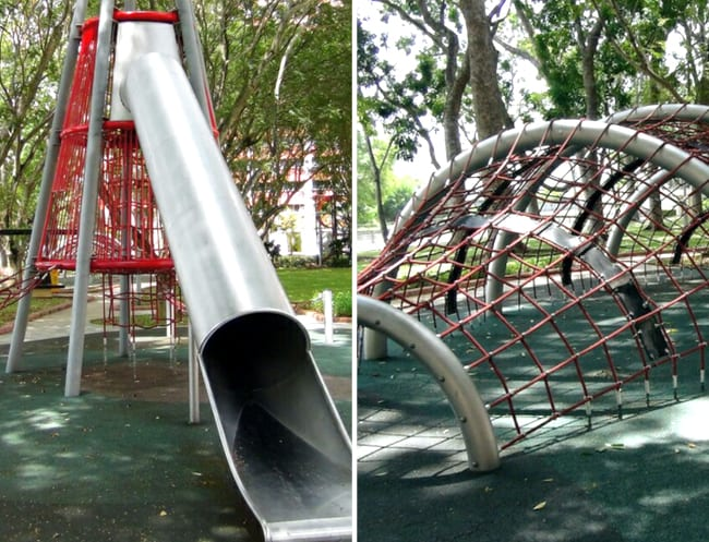 A giant slide and a heap of climbing fun to be had at Wallholla Playground