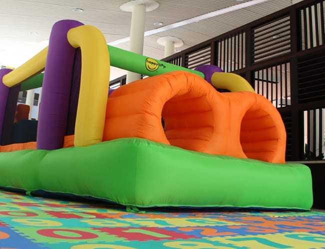 This very handy bouncy castle will keep the kids happy for at least a course or two!
