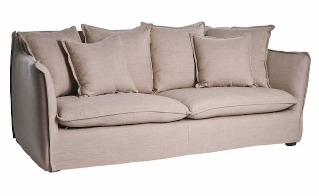 The Aruba Sofa at Journey East in Linen Flax.