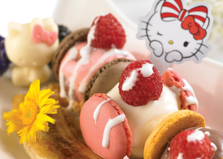 Kids will love the Hello Kitty themed cafe at Terminal 3
