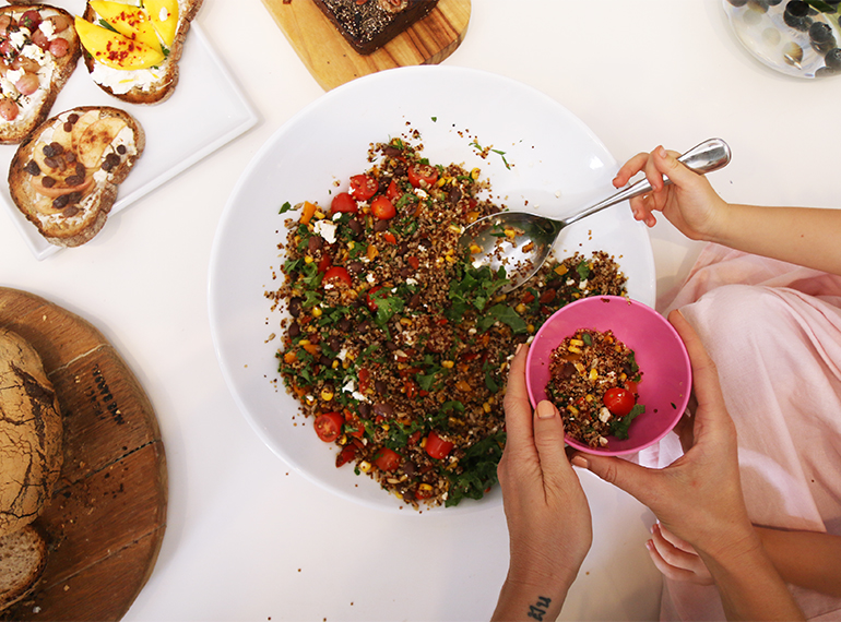 Terri-Anne loves cooking with superfoods. Here's Olivia serving up a delish quinoa salad!