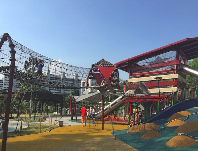 Playgrounds in Singapore just got more exciting: with climbing nets, swings and so much more, Marine Cove is where the adventure's at!