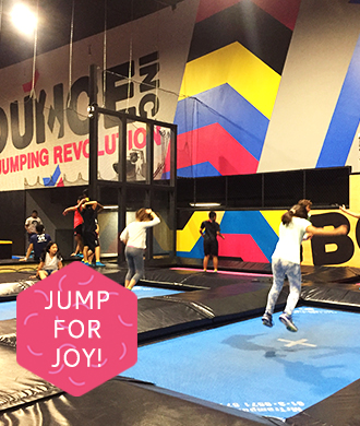 Jump for joy with some trampolining fun!
