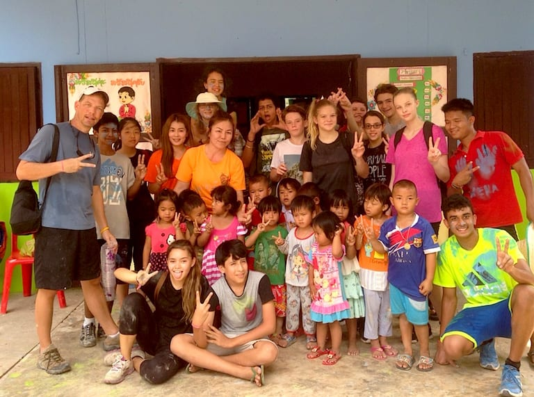 On a recent trip to Thailand, Year 7 to Year 10 students volunteered at a local preschool.