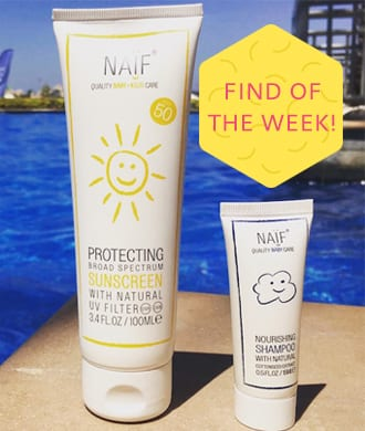 Find of the week: NAÏF skincare for babies and parents