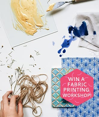 WIN a fabric printing workshop with Fictive Fingers!