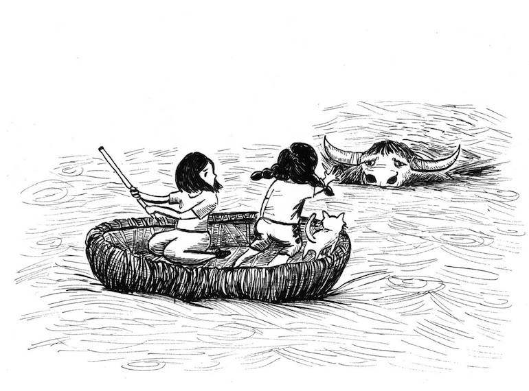 Join Min Rui and Chloe on their adventures around Asia. Illustration by Stephanie Raphaela Ho
