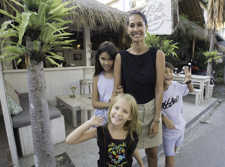 Bali offers an amazing childhood experience for Lindy's kids Stella, Rocco and Frankie