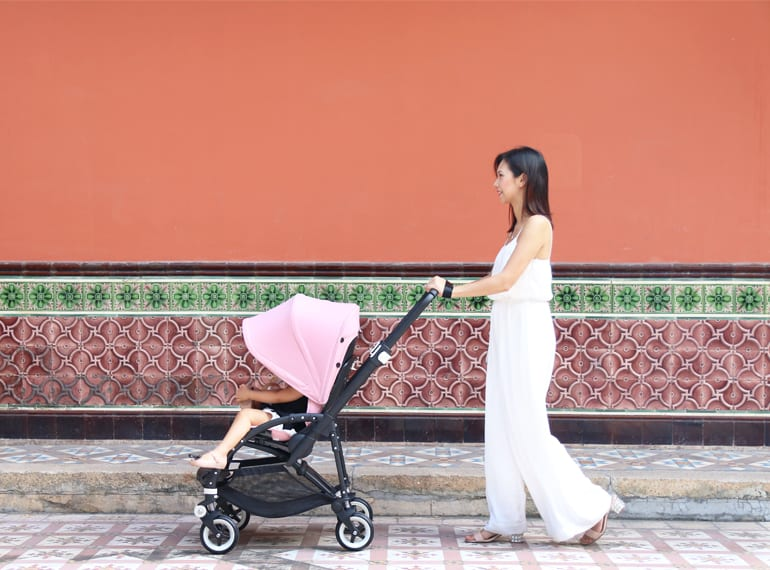"""I love that I've used the same pram since birth for both of my girls,"" says Belinda."