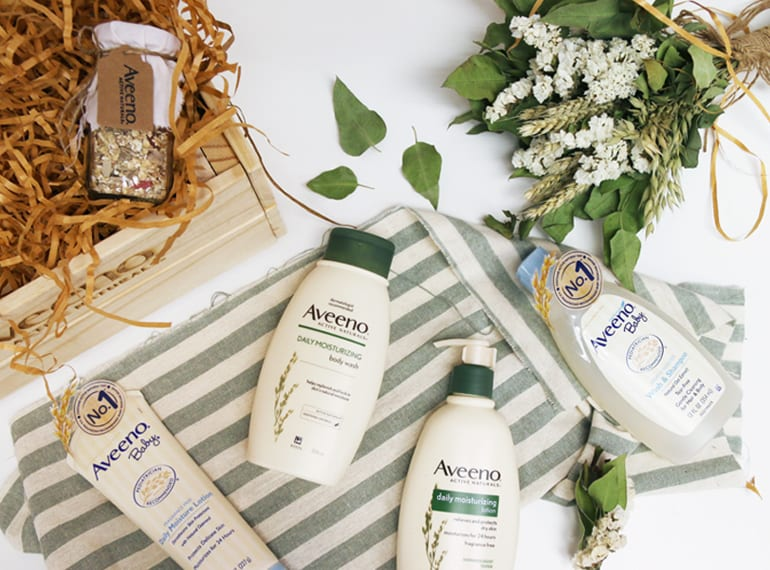 Just some of the lovely Aveeno Baby range. The good news is, Aveeno takes care of mum's skin too!